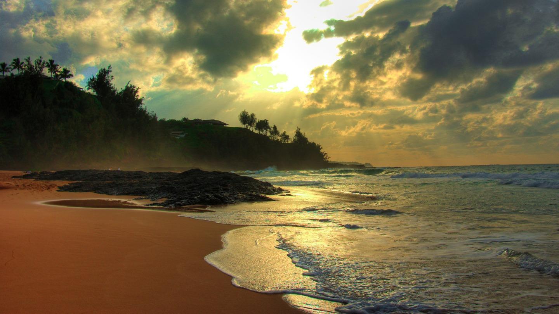 Kauapea Beach, Kauai, Hawaii
