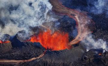 Поглед отгоре на вулкана Бардарбунга, 01.09.2014