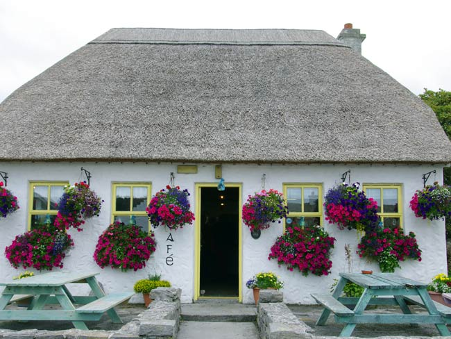 A-well-kept-thatched-cottage-on-the-Aran-Island-of-Inishmore