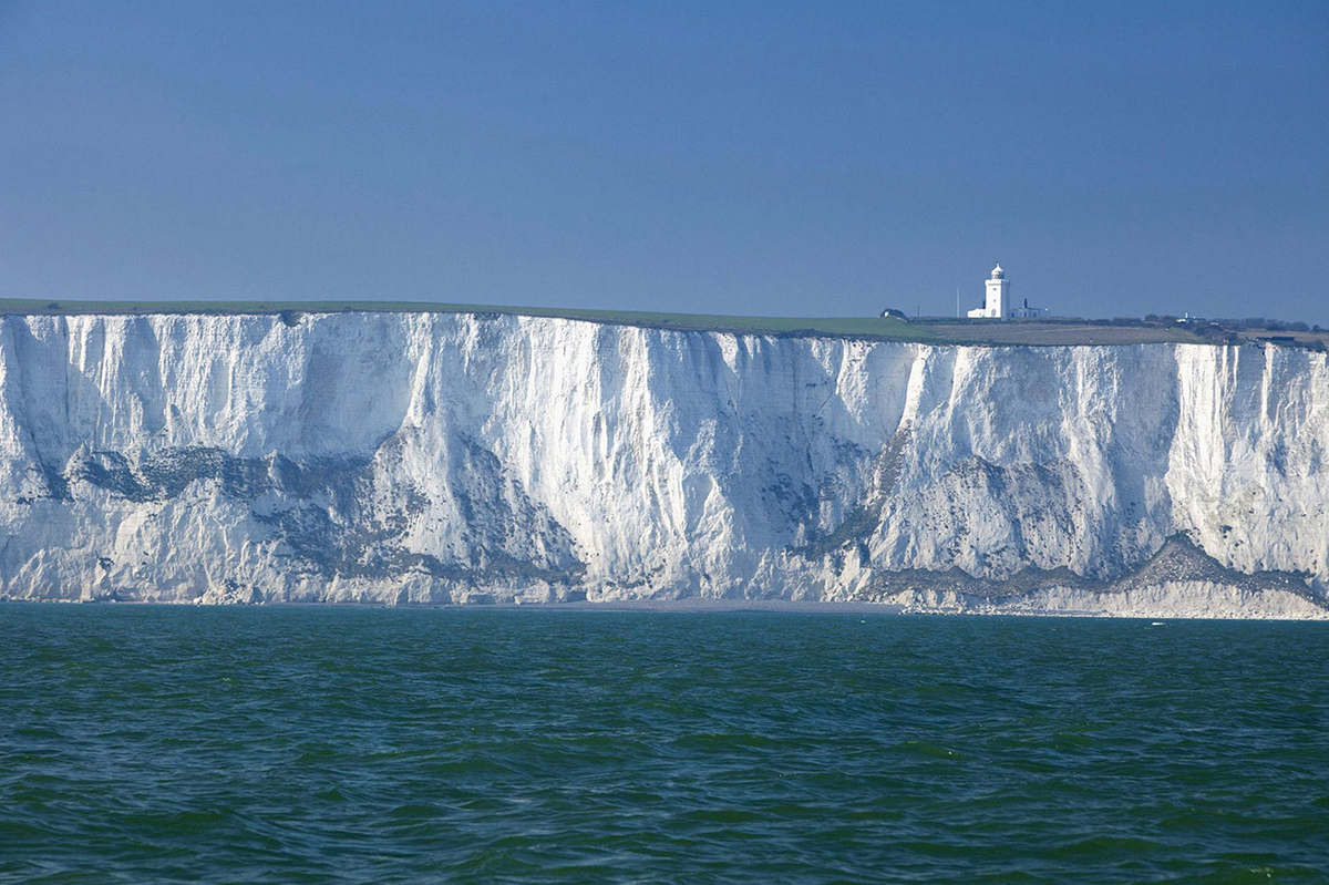 The chalk cliffs at Dover