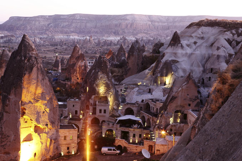Morning Twilight in Fairy Chimneys of Göreme Valley Cappadocia