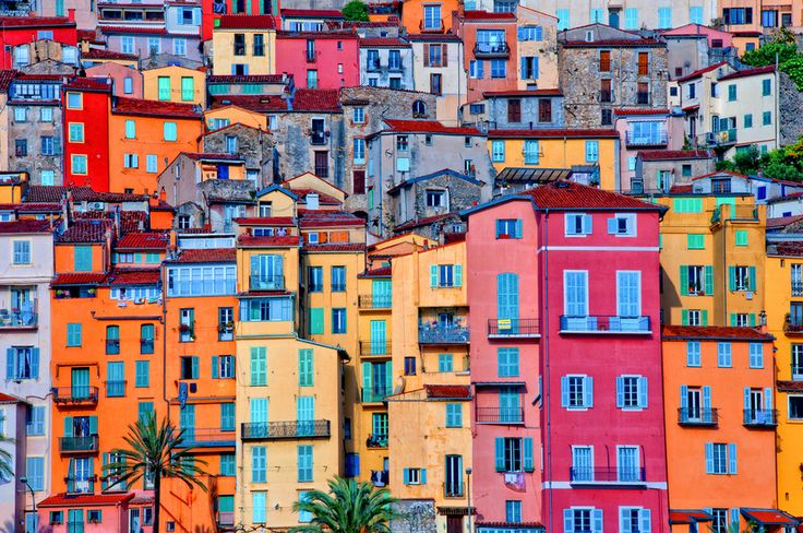 Provence Village Of Menton, France