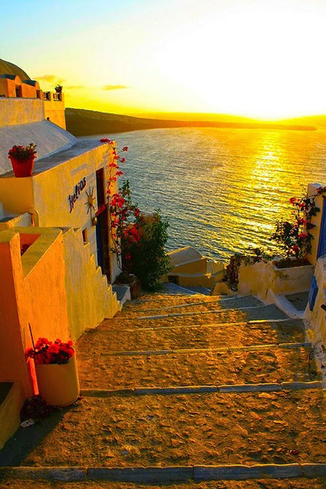 9Golden Sunset, Santorini, Greece