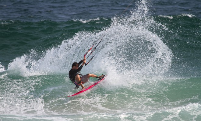 in action at the last stop of Brazilian pro Kitewave competition 2014.