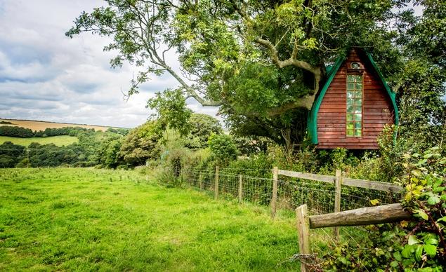 Официално известна като къщата на дървото Спароу, тази къщичка се намира в Корнуол, Великобритания и дава възможност да се докоснете до природата на девствената част от Южна Англия.