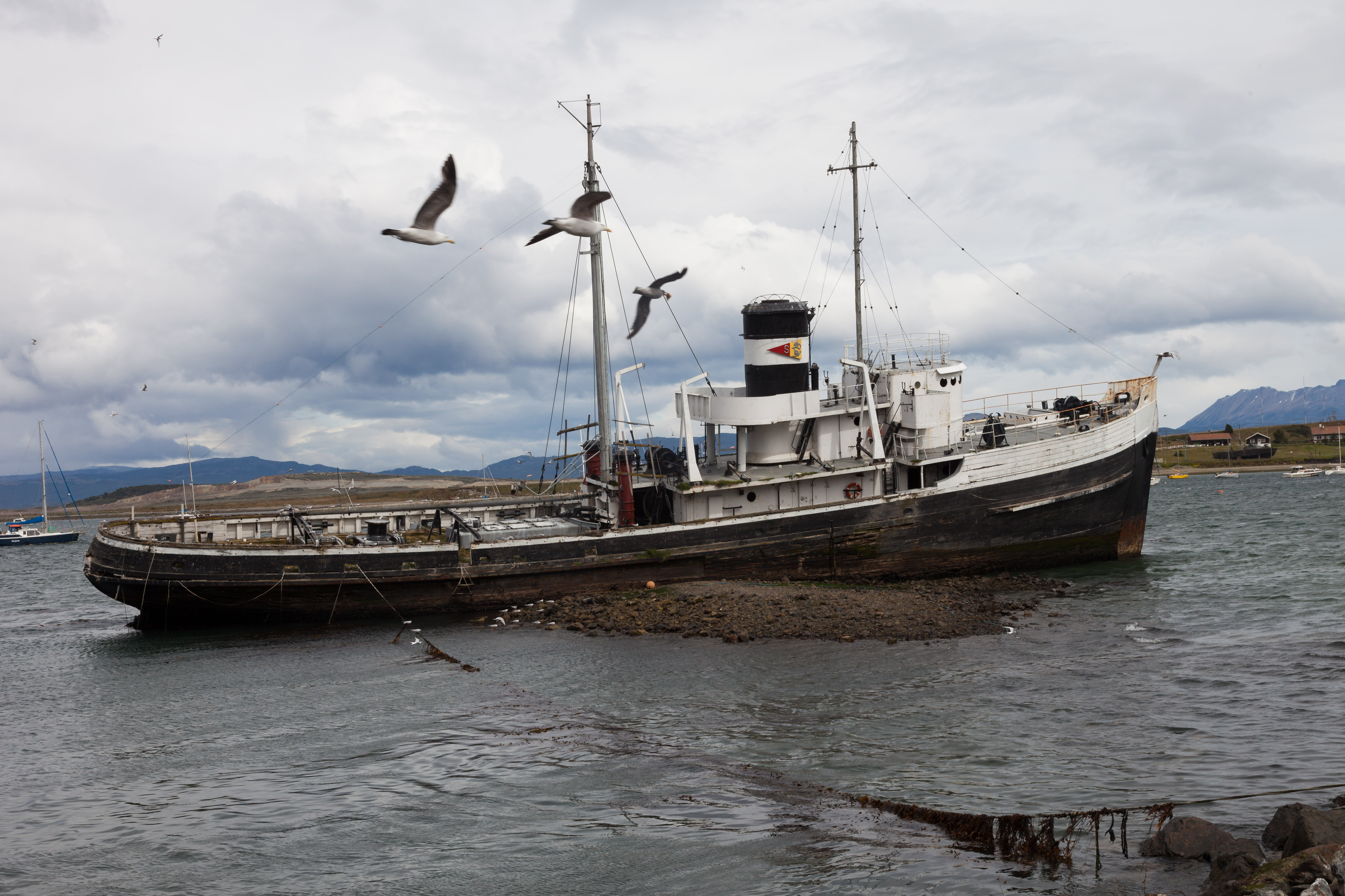 St. Christopher - Wreck HMS Justice (W140) at Ushuaia - Tierra d
