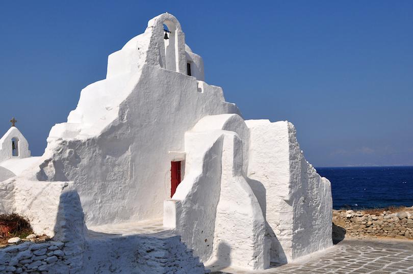 Parapotiani church on island Mykonos,Greece