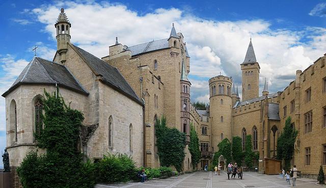 Hozenzollern-inner-courtyard-castle