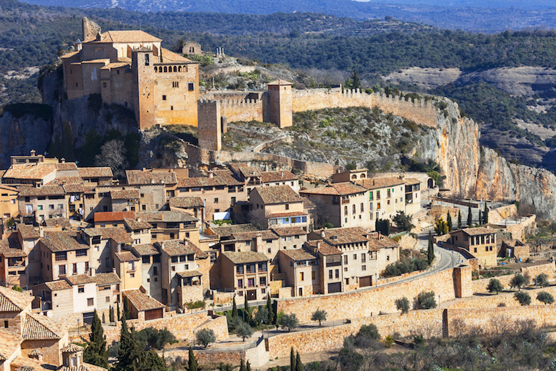 Alquezar - beautiful medieval village in Aragon mountains. Spain
