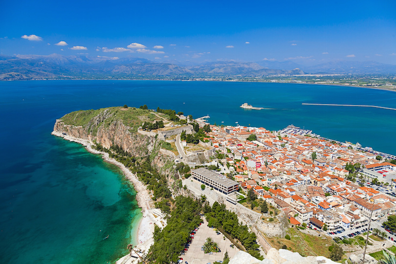 Nafplio , a seaport town in the Peloponnese in Greece