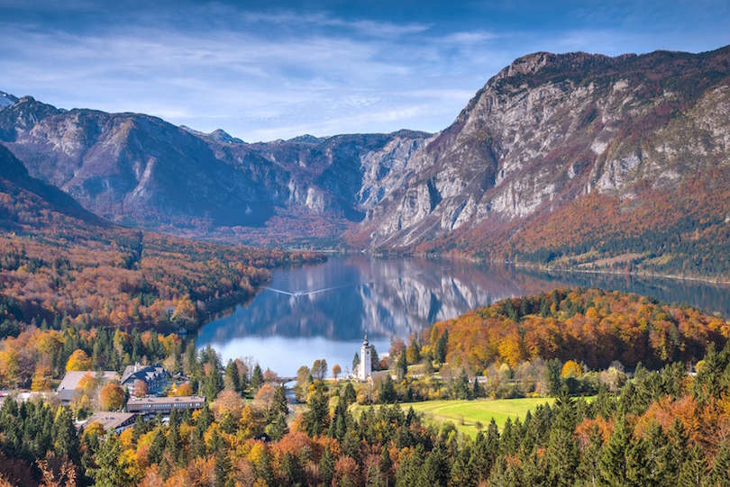 Mountain Lake in Autumn - Lake Bohinj