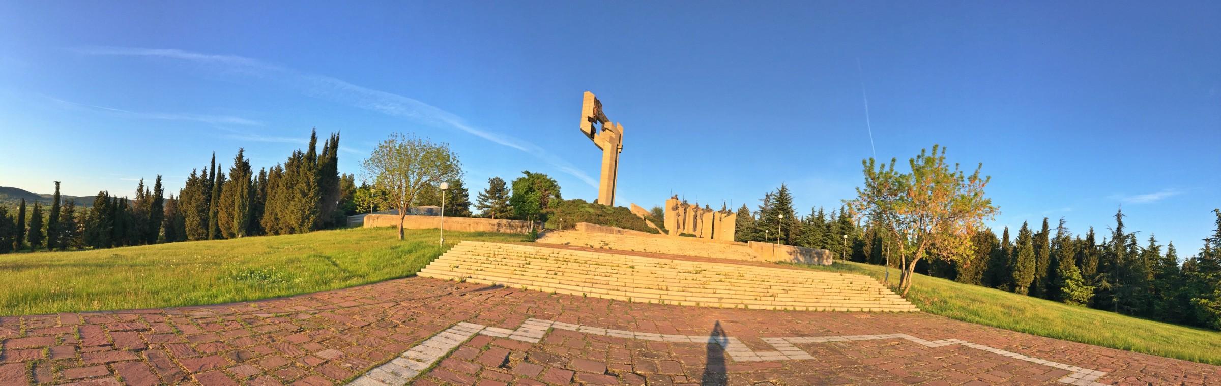 """Мемориален комплекс """"Бранителите на Стара Загора 1877 година"""" - построен в чест на стогодишнината от Освобождението на мястото на най-кръвопролитните сражения."""