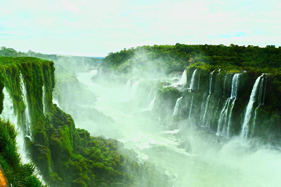водопади, игуасу, бразилия, аржентина