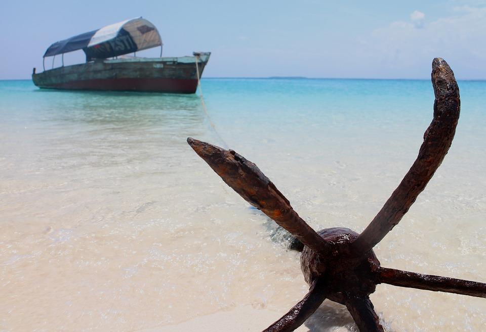zanzibar, занзибар, плаж, кораб, котва