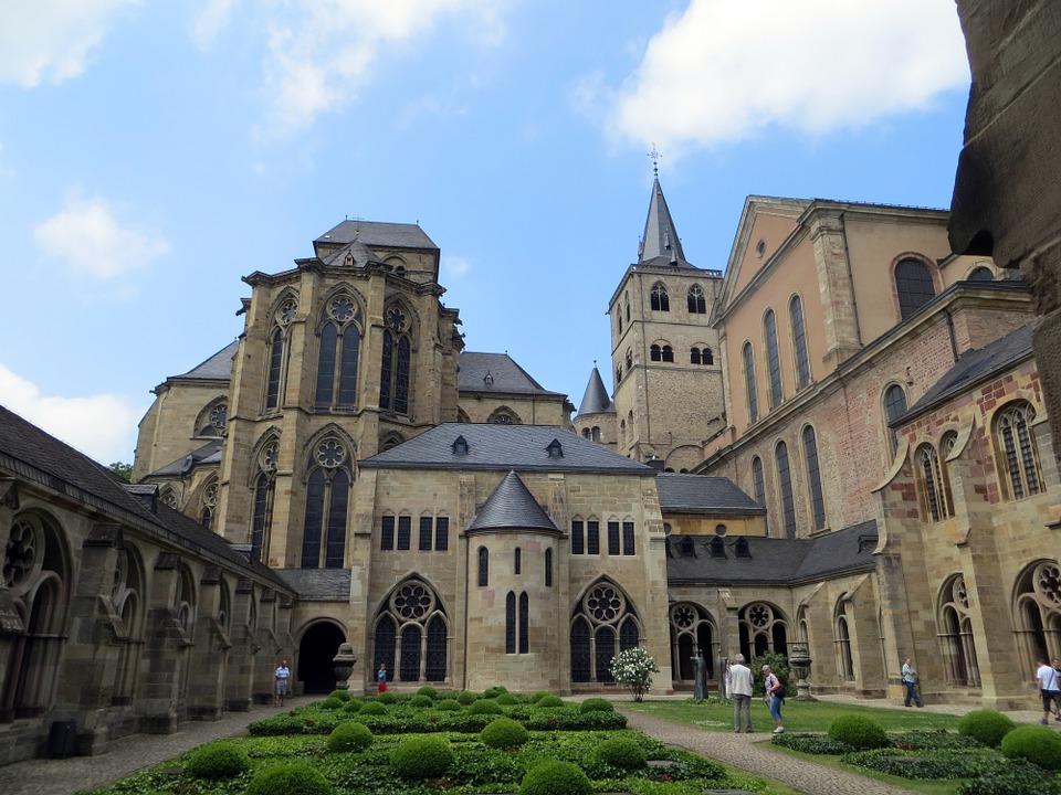 катедрала, трир, двор