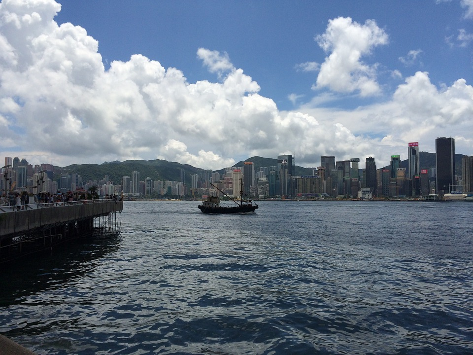 hong-kong-victoria-harbour, пристанище виктория, хон г конг, китай