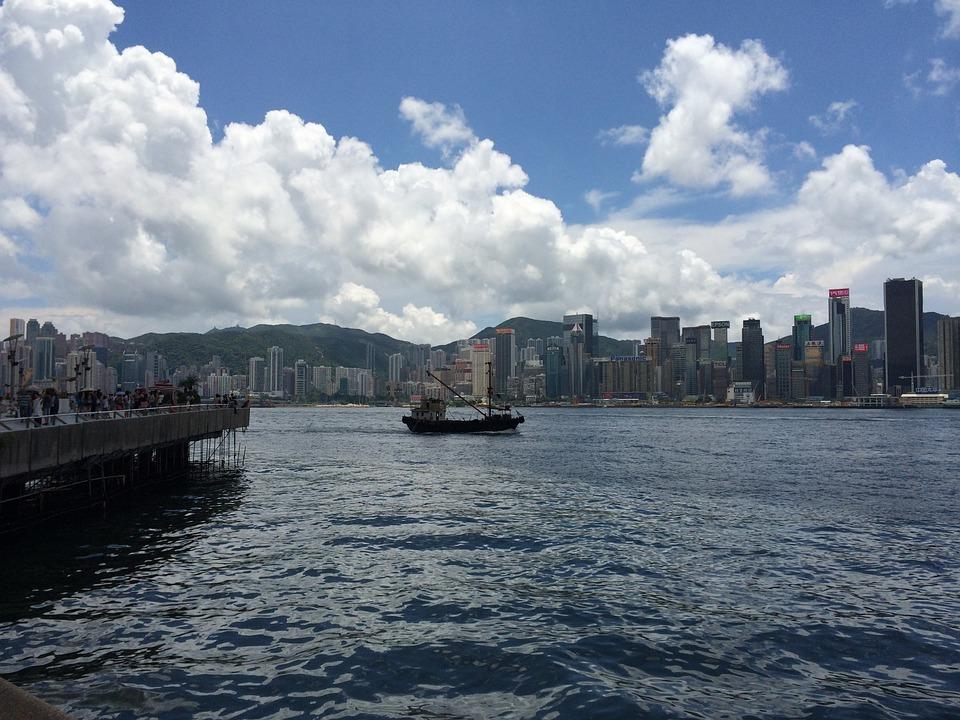 hong-kong-victoria-harbour, пристанище виктория, хон г конг, китай
