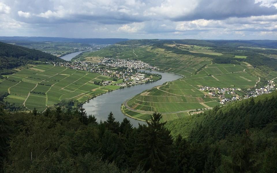 трир, германия, река мозел