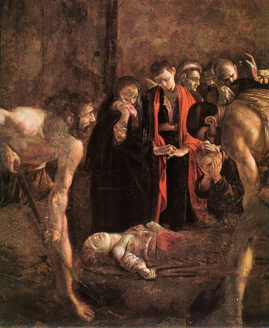 """Тук е изложен шедьовърът на Караваджо """"Погребението на Санта Лучия"""", сътворен през 1608 г."""